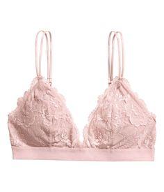 Lace Bralette | H&M Gifts - women underwear lingerie, lingerie nightwear, exy lingerie *sponsored https://www.pinterest.com/lingerie_yes/ https://www.pinterest.com/explore/intimates/ https://www.pinterest.com/lingerie_yes/leather-lingerie/ https://www.missguidedus.com/clothing/lingerie