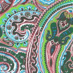 Fabric Finder's Inc. Print #1475 Green Paisley #paisley #paisleydesign #fabric #paisleyfabric #fabricideas #sewing #sew #fabric