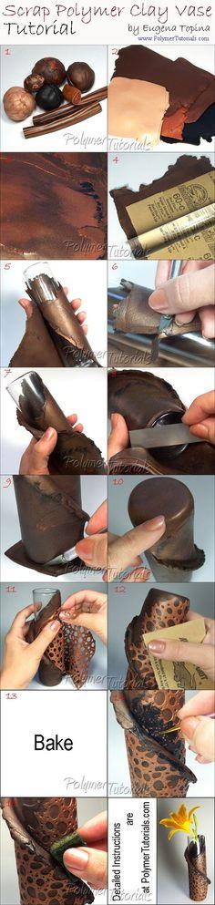 Grátis Vase Tutorial Polymer Clay: