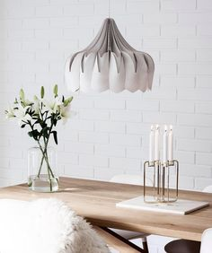 Peony lamp is made of birch wood with staining to create a unique, beautiful balance between soft and strong 💫 / be&liv Shabby Home, Large Lamps, Wooden Lamp, Beautiful Lights, Ceiling Lamp, Timeless Design, Peonies, Cool Designs, House Design