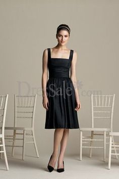 Classic Bridesmaid Dress with Square Neckline. love square necklines.