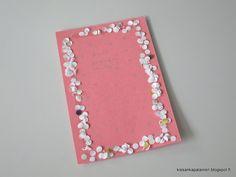 Kissankäpälä: Ystävänpäiväkortti askartelu, Valentine's Day card... Valentines Day, Crafts, Valentine's Day Diy, Manualidades, Handmade Crafts, Craft, Arts And Crafts, Artesanato, Handicraft