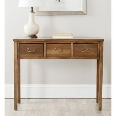 Safavieh Cindy Oak Console | Overstock.com Shopping - The Best Deals on Coffee, Sofa & End Tables