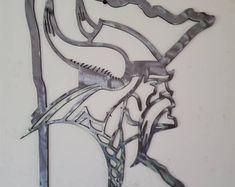 Minnesota Vikings head on wood SKOL metal art viking wall | Etsy Viking Head, Viking Art, Vikings Football, Minnesota Vikings, Metal Art, Wood Art, Football Wall, Outside Decorations, Wood Wall Decor