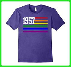 Mens LGBT Flag EST 1957 Birthday Gift 60 Years Old Shirt 3XL Purple - Birthday shirts (*Amazon Partner-Link)