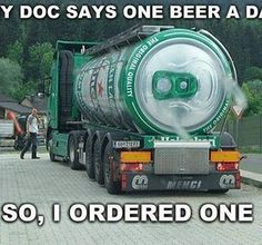 One Beer a day , so one it is