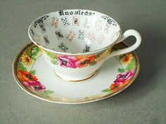 Vintage Floral Fortune Telling Teacup and by SwirlingOrange11, $100.00