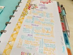 Awesome description of Martha Stewart disc bound planners- amazing goals section and color coding! :)