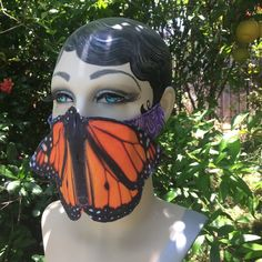 Monarch Butterfly Costume, Butterfly Mask, Tween, Halloween Face Makeup, Costumes, Trending Outfits, Unique Jewelry, Handmade Gifts, Fabric