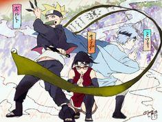 Boruto Sarada and Mitsuki #Naruto
