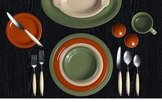 Check out my Colorama by Fiesta® customized table setting! Click to create your own. Sage, Paprika, Ivory.