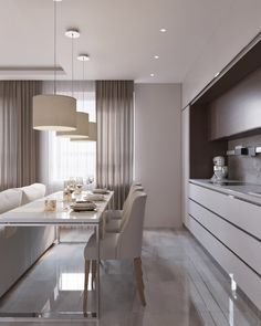 Luxury Small Kitchen - Regardless of whether you're planning for a move to another house or you essentially need to a kitchen redesign, these astounding kitchen Minimalist But Luxurious Kitchen Design thoughts will prove to be useful. Kitchen Room Design, Modern Kitchen Design, Dining Room Design, Home Decor Kitchen, Interior Design Kitchen, Kitchen Designs, Dining Area, Nobilia Kitchen, Design Room