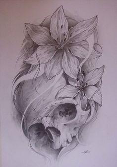 I really like this skull tattoo idea