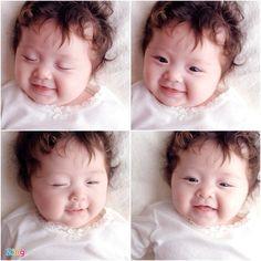 Elly Trần chia sẻ, Cadie có gương mặt không giống mẹ ngoài chiếc cằm.
