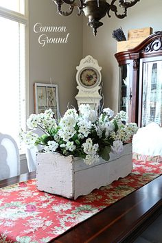 Dining Room Buffet and a new Tablerunner