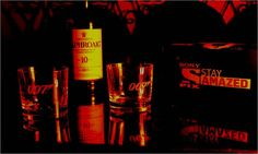 James Bond 007 Whiskey Glases to promote the movie SKYFALL in SONYPIX