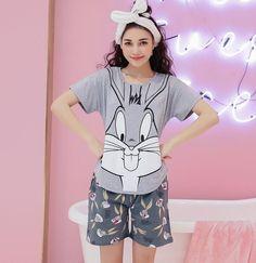 Cartoon Cotton 2 pc Sleepwear Set