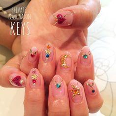 セーラームーンモチーフ♡ . . #nail#nails#nailart#ネイル#ネイルアート#gel#gelnails#ジェルネイル#宇都宮#宇都宮ネイル#宇都宮ネイルサロン#栃木#プライベートネイルサロン#セーラームーン#セーラームーンネイル#sailormoonnails#sailormoon