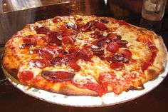 Pepperoni Pizza from The Pizza Barn in Center Ossipee, NH.  http://www.hiddenboston.com/foodphotos/pizza-barn-pizza.html
