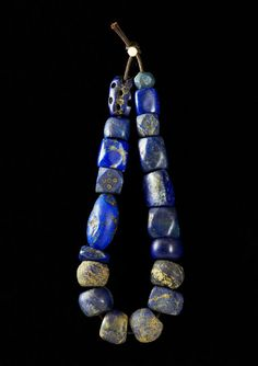 Ancient lapis beads .... Love the mix of shapes and textures