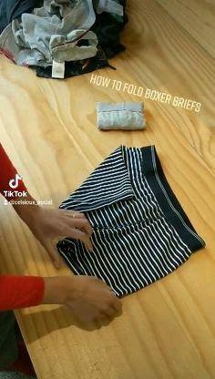 Diy Clothes Life Hacks, Diy Clothes And Shoes, Clothing Hacks, Fold Clothes, Simple Life Hacks, Useful Life Hacks, How To Fold Towels, Diy Fashion Hacks, Diy Organisation