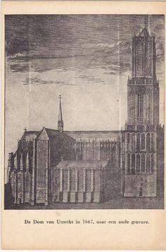 Domkerk met Domtoren vóór de storm in 1667.