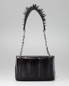 Artemis Spike-Strap Snakeskin Bag by Christian Louboutin