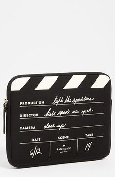 kate spade new york - 'director's clapboard' iPad sleeve