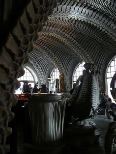 H R Giger Cafe by arranfrood, Gruyeres, Switzerland.