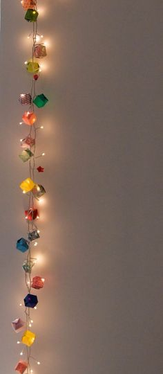 String Light DIY ideas for Cool Home Decor | Origami Garland Hanging Lights are Fun for Teens Room, Dorm, Apartment or Home #teencrafts #cheapcrafts #diylights/