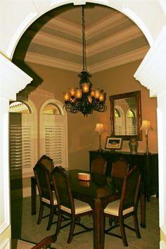 Unique Dining Room Ceiling #design/build