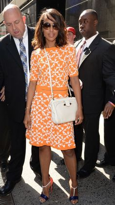 e4f71e5a9bc3 Kerry Washington Brightens up NYC in Tanya Taylor Cocktail Attire