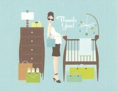 Nothing says thank you more than a Doc Milo baby shower thank you card! Anyone will appreciate this trendy card in the mail.