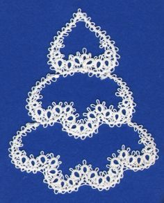Tatting CHRISTmas Tree pattern #Noel  #tatted #tatting #tat #lace