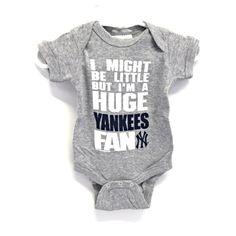 new york yankees nursery | Soft As A Grape New York Yankees Grey Baby Rib Creeper from Stan's ...