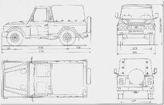 ARO 242 blueprint 3d Design, Cars And Motorcycles, Floor Plans, Pasta, Trucks, Models, Cars, Autos, Organize
