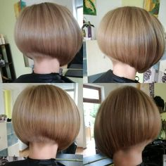 Bob haircut natural dark blonde
