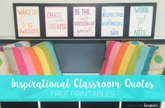 Lessons with Laughter: Inspirational Classroom Quotes - Free Printables