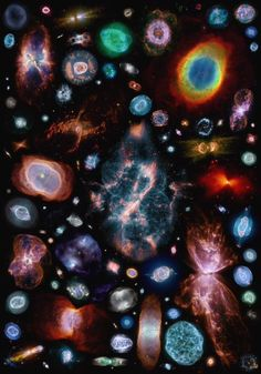 100 Planetary Nebulas ~ Credit: Hubble, Judy Schmidt