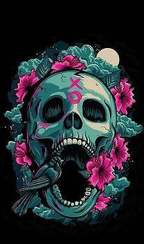 Pink Skull Wallpaper, Gothic Wallpaper, Dark Wallpaper, Flower Wallpaper, Iphone Wallpapers, Cute Wallpapers, Wallpaper Bonitos, Skull Artwork, Sugar Skull Art