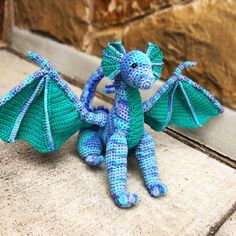 Danielle Guerrero added a photo of their purchase Crochet Patterns Amigurumi, Crochet Dolls, Crochet Stitches, Knitting Patterns, Crochet Dragon, Baby Dragon, Pattern Library, Single Crochet, Craft Stores