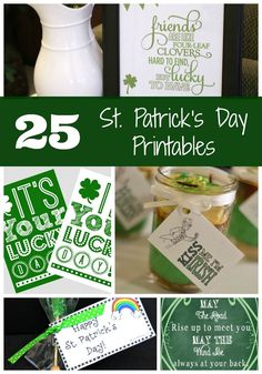 25 Free St. Patrick's Day Printables - Pretty My Party #free #stpatricksday #printables