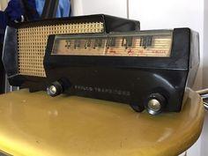 Vintage 1953 Philco 53 563 Transitone Black Plastic Radio Tube Radio RARE | eBay