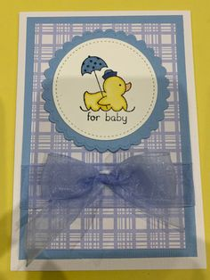 Baby Shower Cards, Tweety, Stampin Up, Events, Easy, Crafts, Fictional Characters, Manualidades, Stamping Up