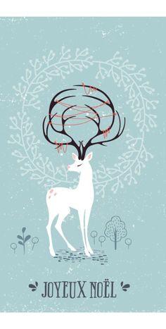 Une carte de vœux DIY en transfert sur bois à faire soi-même avec une illustration à télécharger et imprimer pour Noël.                                                                                                                                                                                 Plus