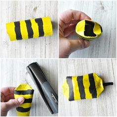 This awesome recycled bee craft is a cute insect craft, Earth Day Craft, fun spring kids craft, cool recycled kids craft and cardboard roll craft for kids. Zoo Activities Preschool, Recycling Activities For Kids, Recycling For Kids, Preschool Crafts, Insect Crafts, Bug Crafts, Crafts To Make, Spring Crafts For Kids, Art For Kids