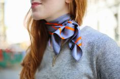 A silk twill scarf is an endlessly versatile way to add a chic dose of personality to any outfit. Here's how to tie a scarf. French girl style, classically chic style, hermes scarf