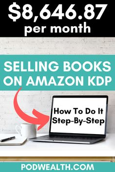 Discover how I've managed to make $8,646.87 per month selling books on Amazon KDP and how you can do it too with my step-by-step training!
