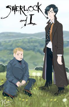 Sherlock and I by Azymmuth.deviantart.com on @deviantART --- Brilliance :D