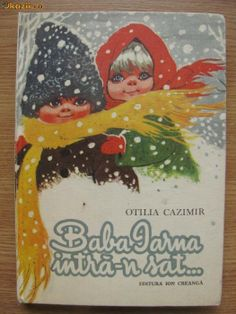 Baba iarna intra-n sat, Otilia Cazimir Book Illustration, Illustrations, Printed Materials, Paper Dolls, Childhood Memories, Card Games, Ukraine, Culture, Christmas Ornaments